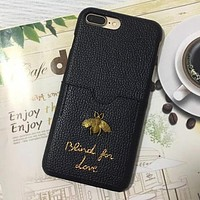 GUCCI Bee Fashion iPhone Phone Cover Case For iphone 6 6s 6plus 6s-plus 7 7plus 8 8plus X