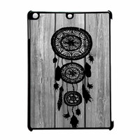 Hipster Vintage Black Dreamcatcher On Gray Wood iPad Air Case