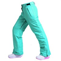 The new 2016 ski pants female  single and double board Couples in winter ski pants, wind proof heat preservation cotton pant