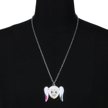 1PC Unisex Women Men Cartoon Animy Suicide Squad Harley Quinn Metal Necklace Keychain Key Ring Cosplay