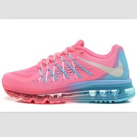 """NIKE"" Trending AirMax Behind the hook section rainbow knited line Fashion Casual Spor"