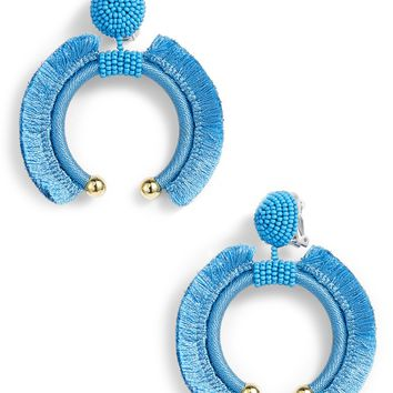 Sachin & Babi Noir Eclipse Fringe Drop Earrings | Nordstrom