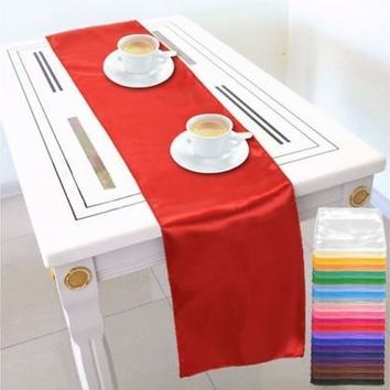 Fashion Table Runners Satin 275x30Cm Wedding Banquet Party Decoration Supply [7981613575]