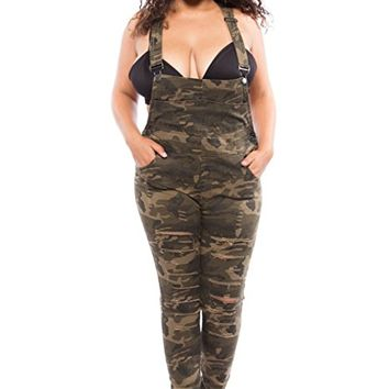 Womens Plus Curvy Popular Fashion Slim Fit Pants Overall RJH0-379