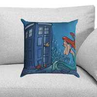 Dr Who Tardis Mermaid Custom Pillow Case for One Side and Two Side