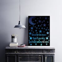 Home Office Decor - Paper Cutting Art - Shoot For The Moon - Dorm Room Decor - Office Decorations - Paper Cut Outs - Inspiring Quote