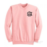 Monogrammed Chest Crewneck Sweatshirt | Marley Lilly