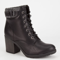 Mia George Womens Boots Black  In Sizes