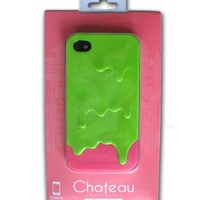 Green and Pink 3D Melt ice-Cream Hard Case Skin Cover for Apple iPhone 4 4G 4S