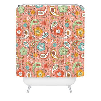 Heather Dutton Adora Paisley Shower Curtain