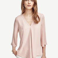 Matte Jersey Pleated Top