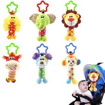 Baby Toys 3 styles Hand Bell Multifunctional Stroller Mobile hanging toy baby rattle toy soft plush 20%Off