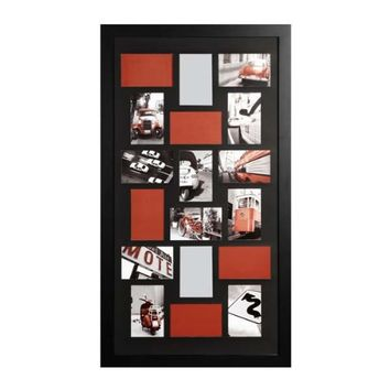 Nexxt PN98994-0 Memoirs Series 18 Picture Oversized Collage Walnut Frame