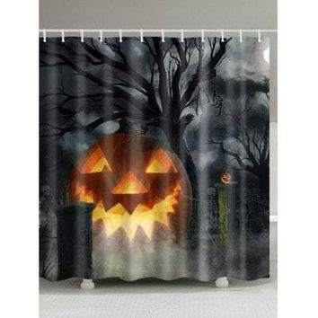 Halloween Theme Water Resistant Shower Curtain