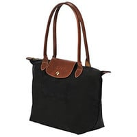 "Small tote bag L ( black ) by longchamp paris "" LE PLIAGE"" 100% authentic original from PARIS FRANCE"