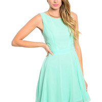 Sleeveless Hi-Low Cocktail Dress W/ Back Cutout