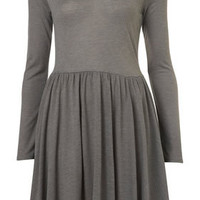 Grey Marl Skater Midi Dress - Dresses  - Apparel