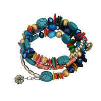 Bohemian Charm Bracelet Agate Crystal Nature Stone Shell Rhinestone Wood Wrap Bracelets For Women Fashion jewelry