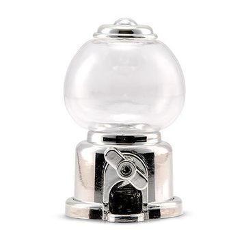 Mini Gumball Machine Party Favor - Silver (Pack of 2)