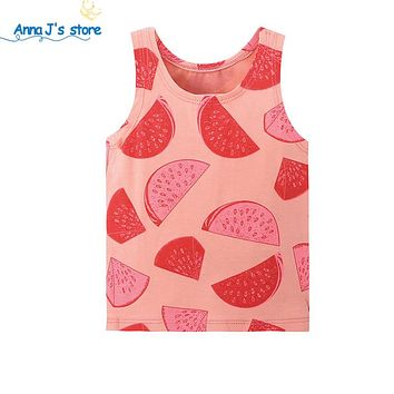 Girls Tanks Children Vest Beach Clothing Baby Girl watermelon Wear Tops Good Quality baby top baby clothing