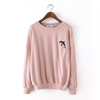 Dolphine Print Sweater