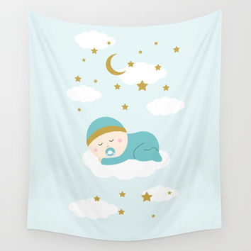 It's a boy Wall Tapestry by Graf Illustration