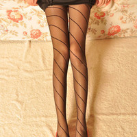 Annular Line Black Tights [NCSPK0039] - $14.99 :