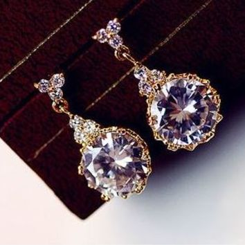 Dangling Princess's Jewel Rhinestone Earrings - LilyFair Jewelry