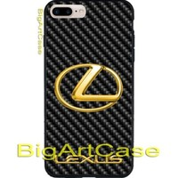 Best Hot Lexus Carbon Gold Logo CASE COVER iPhone 6s/6s+7/7+8/8+,X and Samsung