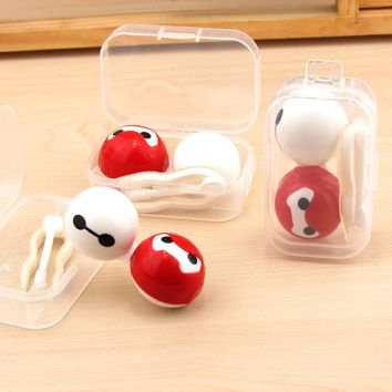 1PCS Cartoon Cute Bird Glasses Double Contact Lenses Box Contact Lens Case For Eyes Care Kit Holder Container Gift