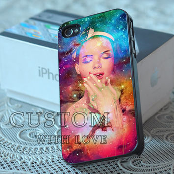 Lana Del Rey Galaxy - Rubber or Plastic Print Custom - iPhone 4/4s, 5 - Samsung S3 i9300, S4 i9500 - iPod 4, 5