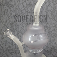 Dabs Frosted Turbine Perc Oil Rig w/ Quartz Domeless Nail