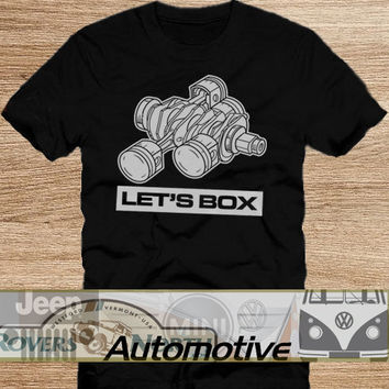 Subaru Boxer Motor TShirt Tee Shirts Black and White For Men and Women Unisex Size