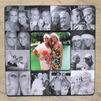 """Personalized Maid of Honor Picture Frame, Sister Gift, Custom Collage Bridesmaid Frame, Bridal Shower Gift Frame, Parent Gift, 8"""" x 8"""""""