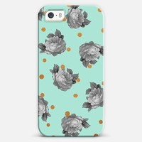 Roses and Dots in Mint iPhone 5s case by Sandra Arduini | Casetify