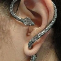 Unique Punk Style Snake Stud Earrings