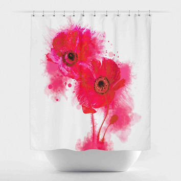 Vibrant Watercolor Poppies
