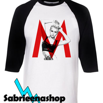 miley cyrus shirt twerk raglan tee for man and woman