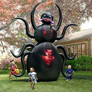 Halloween Inflatable GIANT 12'T X 10'W Animated Spider Outdoor Yard Decoration