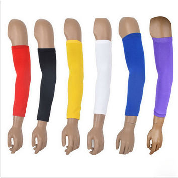 2Pcs/lot High Elastic Basketball Arm Sleeve Armband Soccer Volleyball Elbow Support Brace Cotovelo De Basquete Sports Safety