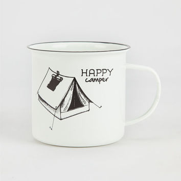 Wendylou Happy Camper Mug Black/White One Size For Women 26051712501