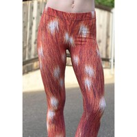Deer fawn fur Halloween costume leggings