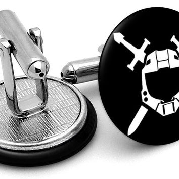 Halo Spartan Team Cufflinks