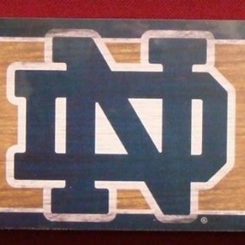 "NOTRE DAME FIGHTING IRISH GENERAL SEATING WOOD SIGN 6""x36"" NEW WINCRAFT"