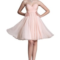 Carlyna 2014 New Pink Lovely Sweetheart Bridesmaid Dress (C07141001)