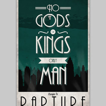 Bioshock Rapture travel poster