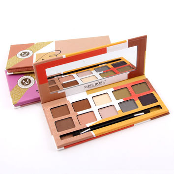 Miss Rose Professional 10-color Matt Eye Shadow Make Up Palette [10937929487]