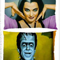 The Munsters His and Hers Pillow Case Set