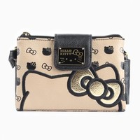 Hello Kitty Crossbody Bag: Gold Bow