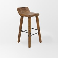 Hewn Wood Stool